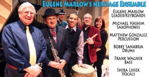 Eugene Marlow's Heritage Ensemble with Shira Lissek on vocals. Photo & Graphics by Jan Sileo